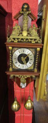 Lot 242 - Dutch wall clock - Working