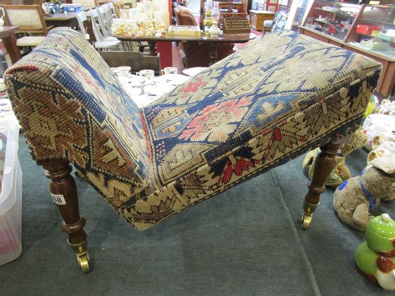 Lot 188 - Antique gout stool