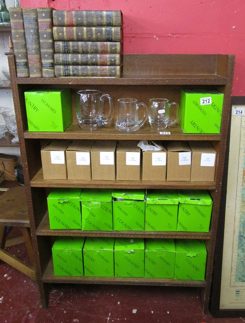 Lot 213 - Oak book shelf