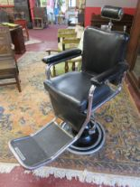 Lot 328 - Vintage barbers chair by L A Reine