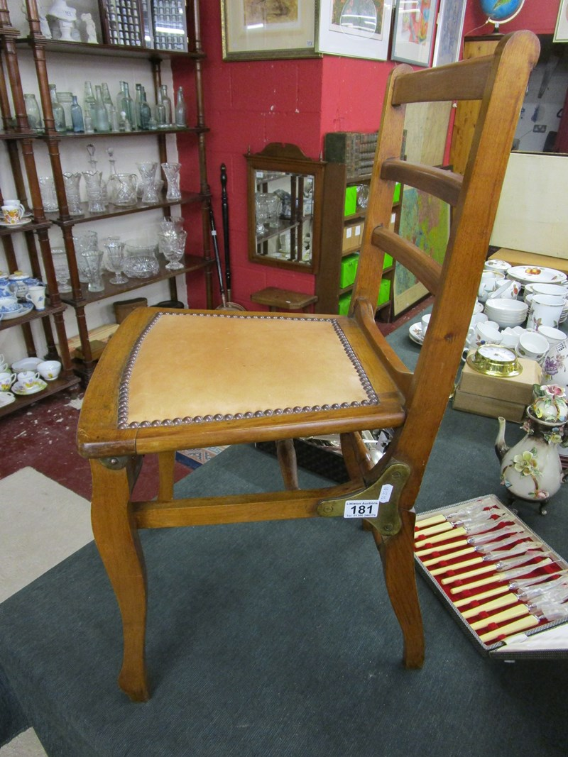 Lot 181 - Folding campaign chair