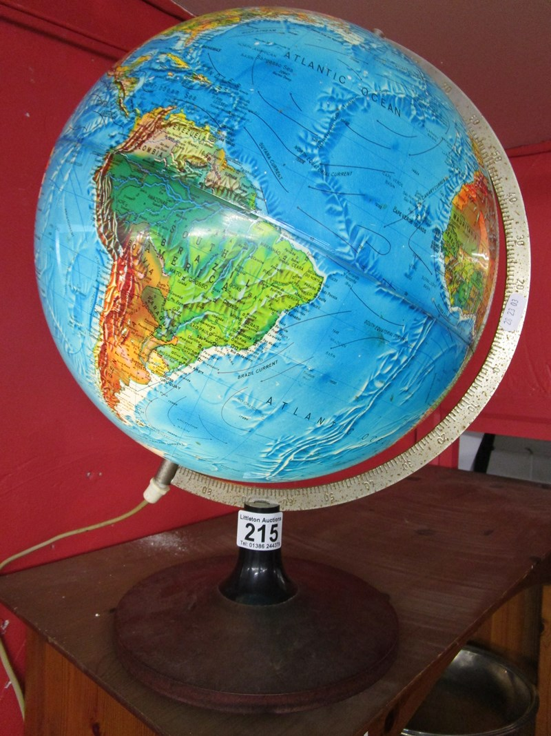 Lot 215 - Illuminated globe