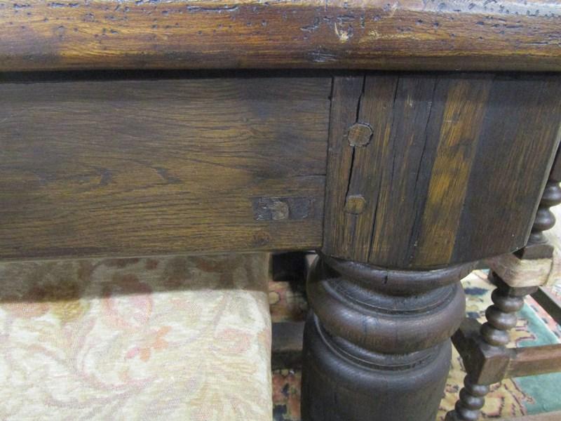 Lot 310 - Early oak refectory table - L: 250cm W: 96cm H: 78cm