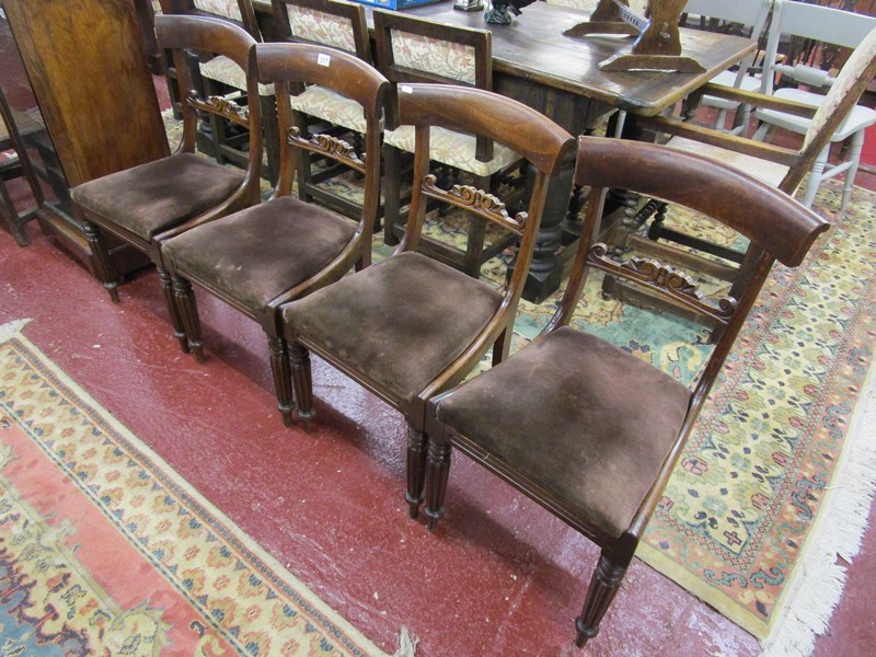 Lot 317 - Set of 4 early Victorian bar-back chairs