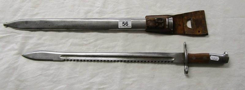 Lot 56 - Elsenger Schwyz Pioneer M14 bayonet with leather frog
