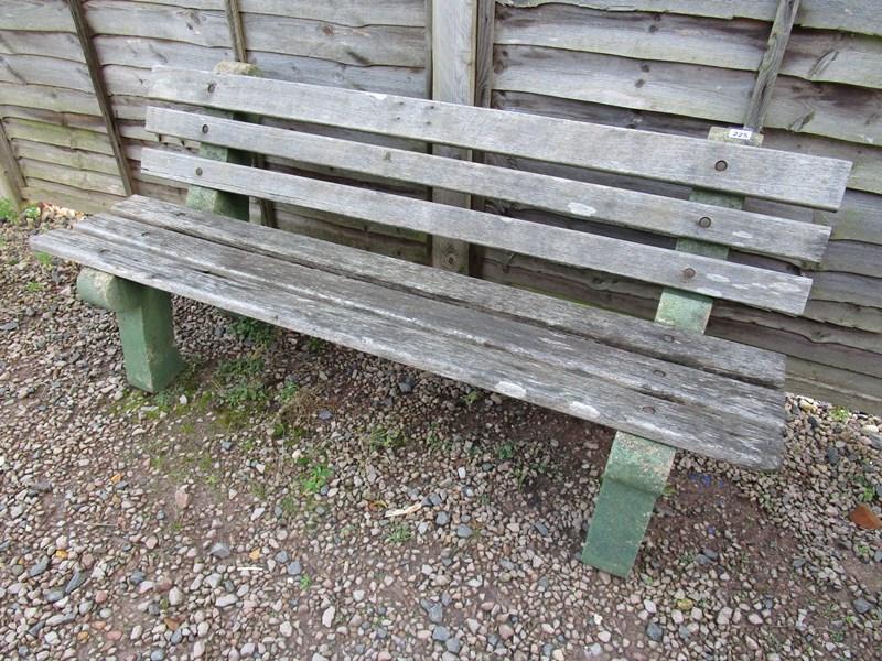 Lot 225 - Heavy garden bench