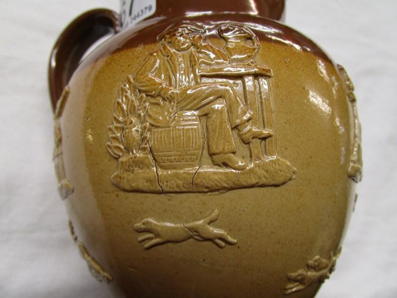 Lot 67 - Royal Doulton silver mounted biscuit barrel & jug