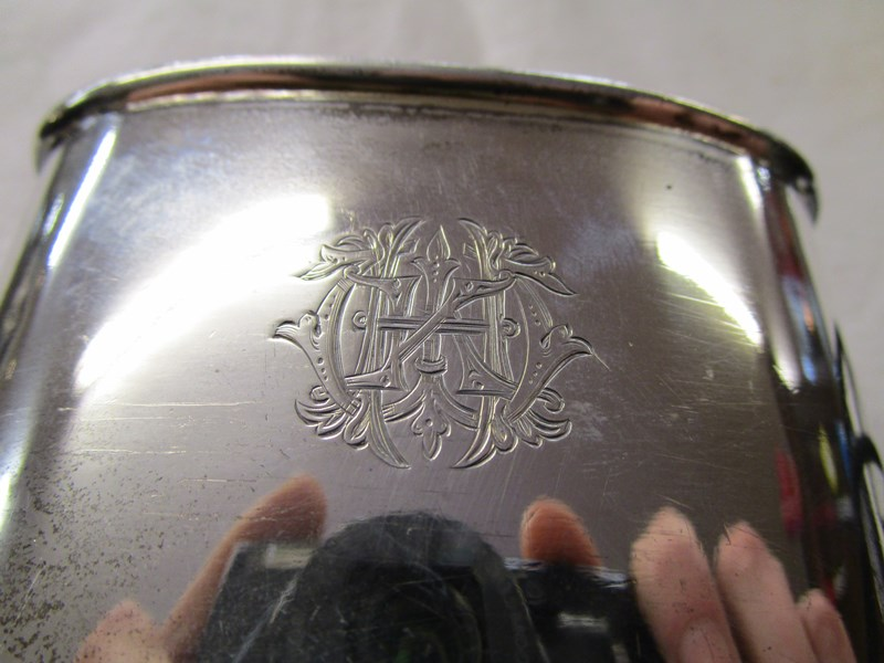 Lot 6 - Hip flask with silver cup