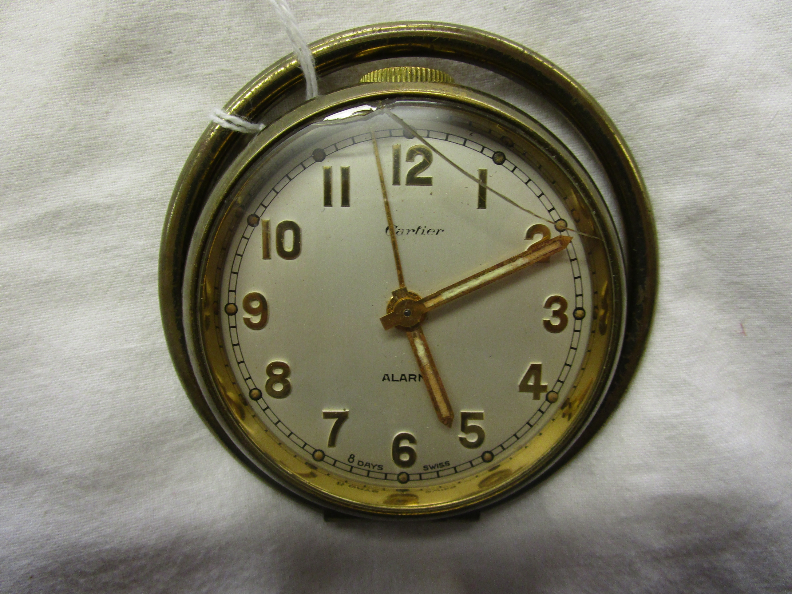 Lot 43 - Cartier travel clock