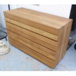 Lot 117 - CHEST, contemporary solid teak colonial style with four long drawers, 125cm x 82cm H x 50cm.