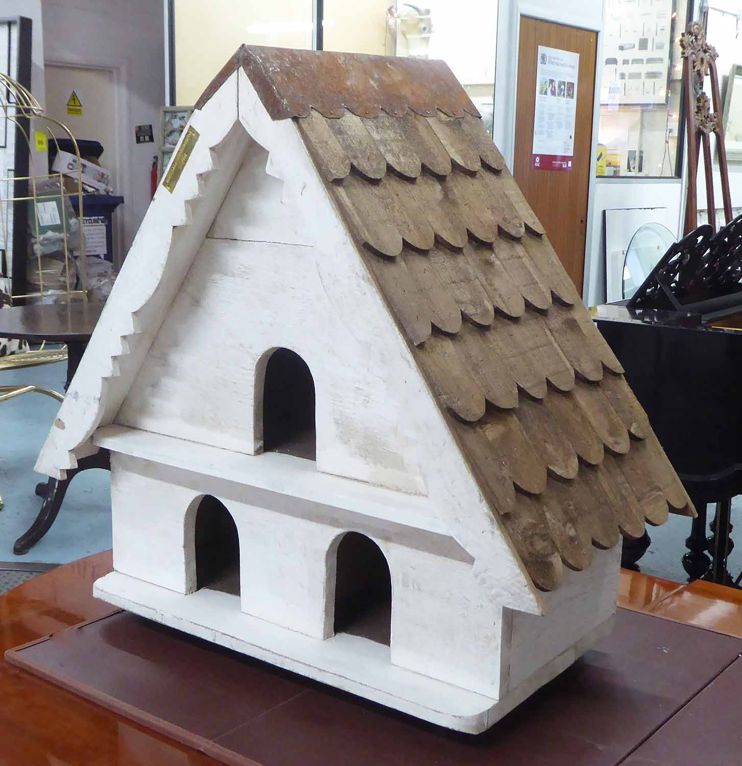 Lot 90 - DOVECOT, English estate style, white painted, 72cm H.