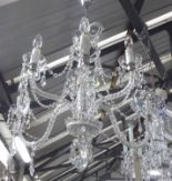 Lot 13 - CHANDELIER, Venetian style, six branches with swept twisted arms and clear drops, plus chain,