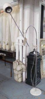 Lot 107 - STILNOVO CHROME STANDARD LAMP, 1970's chrome adjustable lamp, 154cm H.
