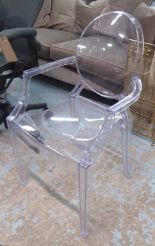 Lot 57 - LOUIS GHOST STYLE CHAIR, after Philippe Starck, 92cm H.