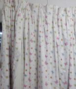 Lot 49 - JANE CHURCHILL FLUTER BY FABRIC CURTAINS, a pair, 140cm gathered by 240cm drop.