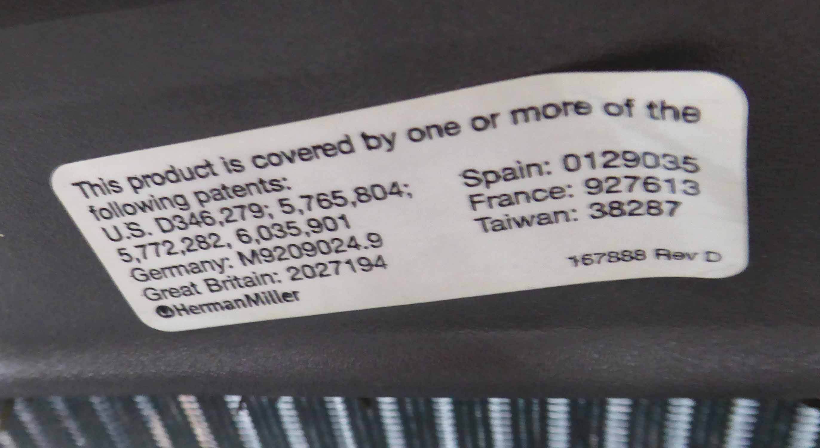 Lot 52 - DESK CHAIR, by Herman Miller, 67cm W.