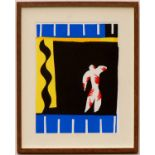 Lot 114 - HENRI MATISSE 'Le clown', 2004, lithograph after cut out, printed by Mourlot, edition:1500,