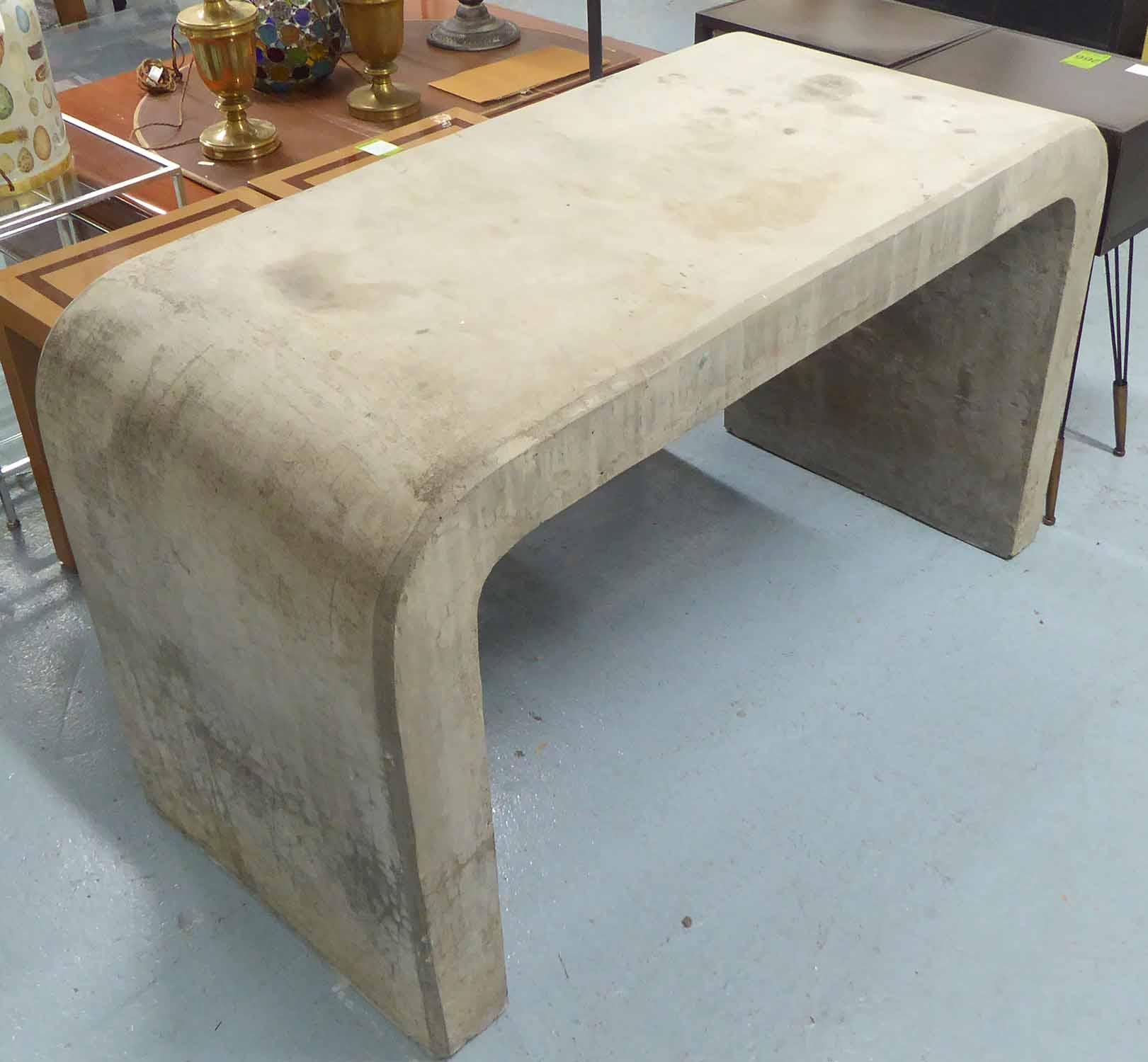 Lot 38 - WRITING TABLE, contemporary concrete construction, 75cm H.