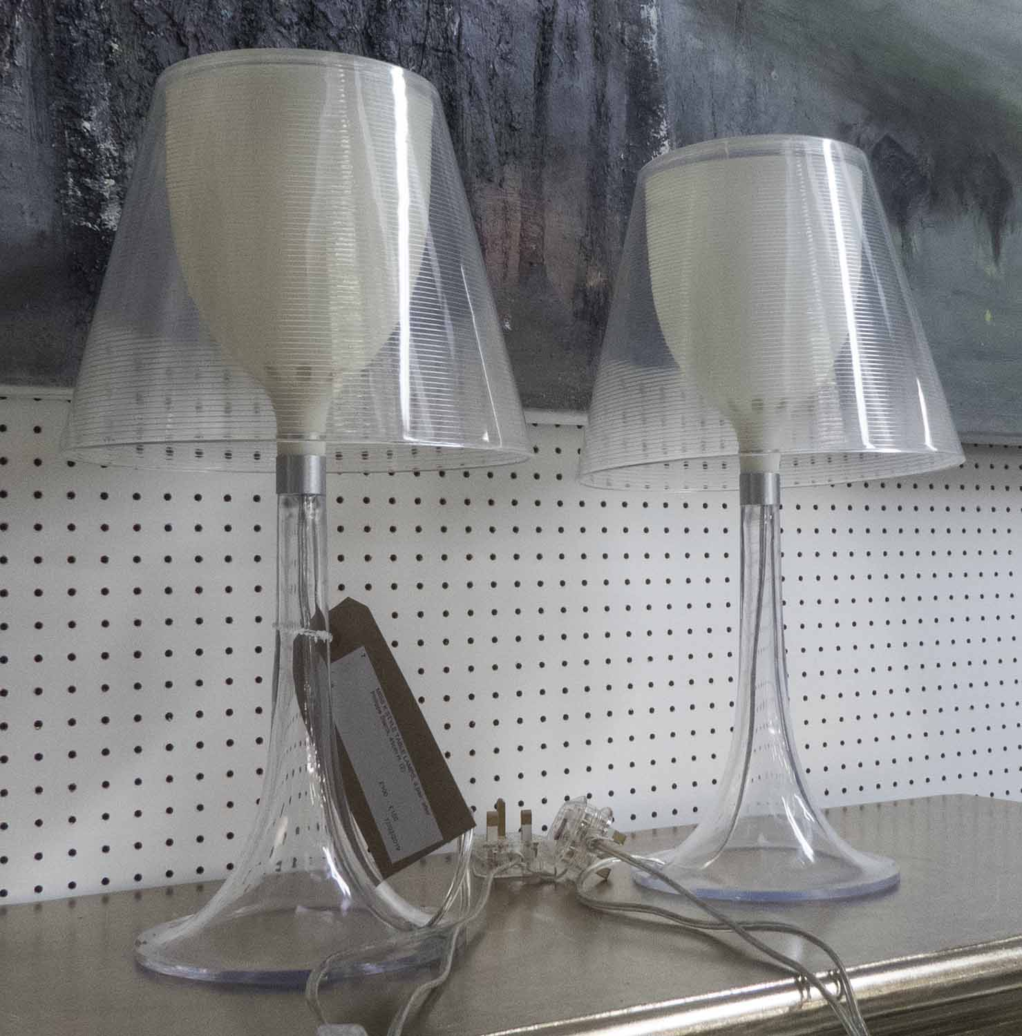 Lot 7 - MISS K STYLE TABLE LAMPS, a pair, after Philippe Starck, 45cm H.