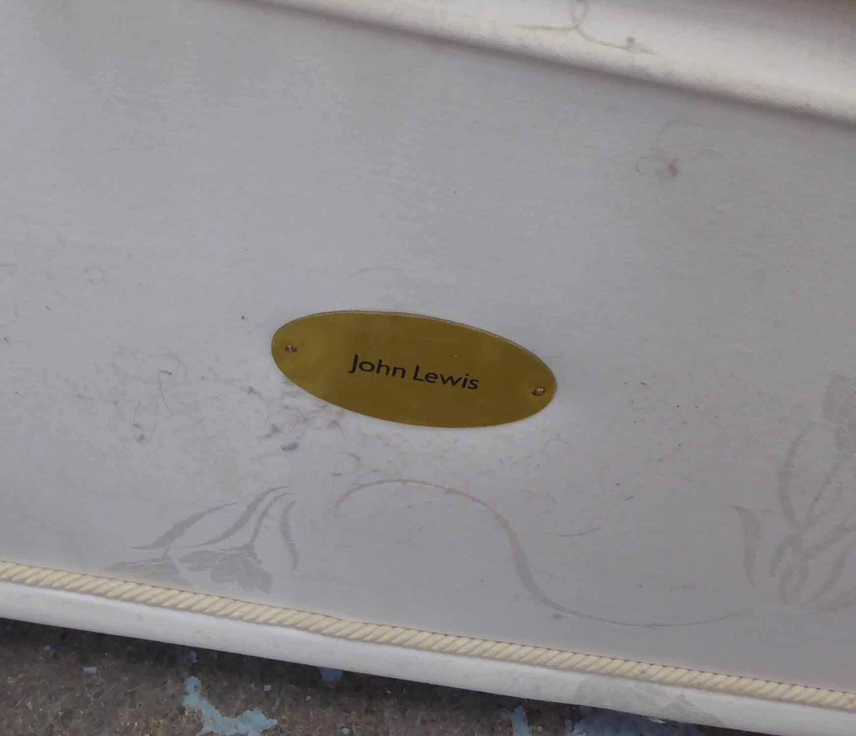 Lot 17 - JOHN LEWIS DOUBLE BED, 5ft, Longstock mattress.