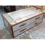 Lot 51 - TRUNK/LOW TABLE,