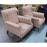 Lot 8 - ARMCHAIRS, a pair,