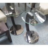 Lot 55 - SIDE TABLES, a pair, contemporary Italian inspired design, 62cm H.