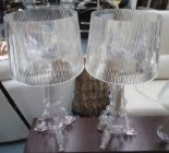 Lot 6 - BOURGIE STYLE LAMPS, a pair, after Ferruccio Laviani, 75cm H.