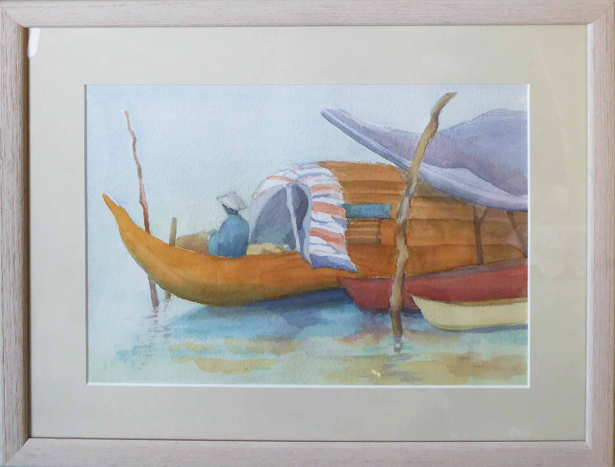 Lot 563 - CHRISTOPHER RYDER 'Cambodian Scene' and 'Coracles-Vietnam', a pair of watercolours, signed,