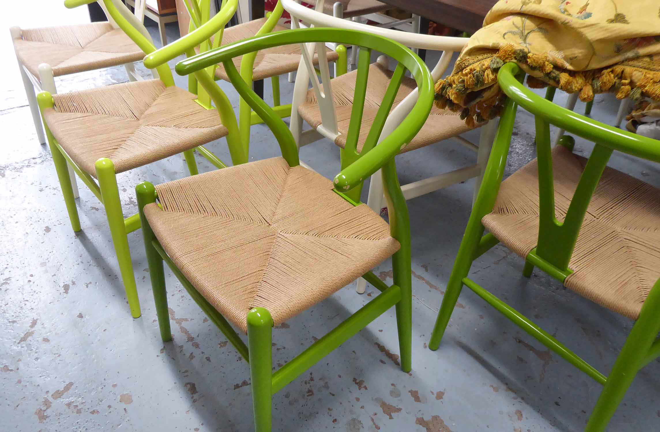 Lot 2 - CARL HANSEN & SON WISHBONE CHAIRS, a set of twelve, by Hans Wegner, retail in excess of £8000,
