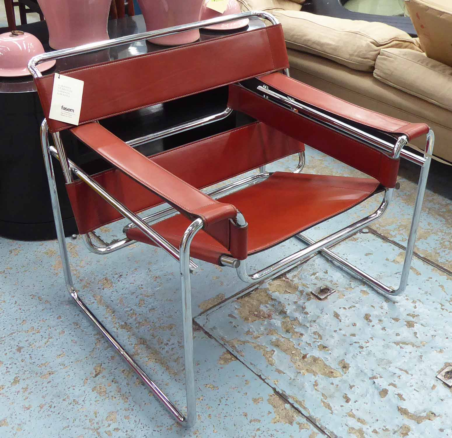 Lot 8 - FASEM WASSILY CHAIR, by Marcel Breuer, 73cm H.