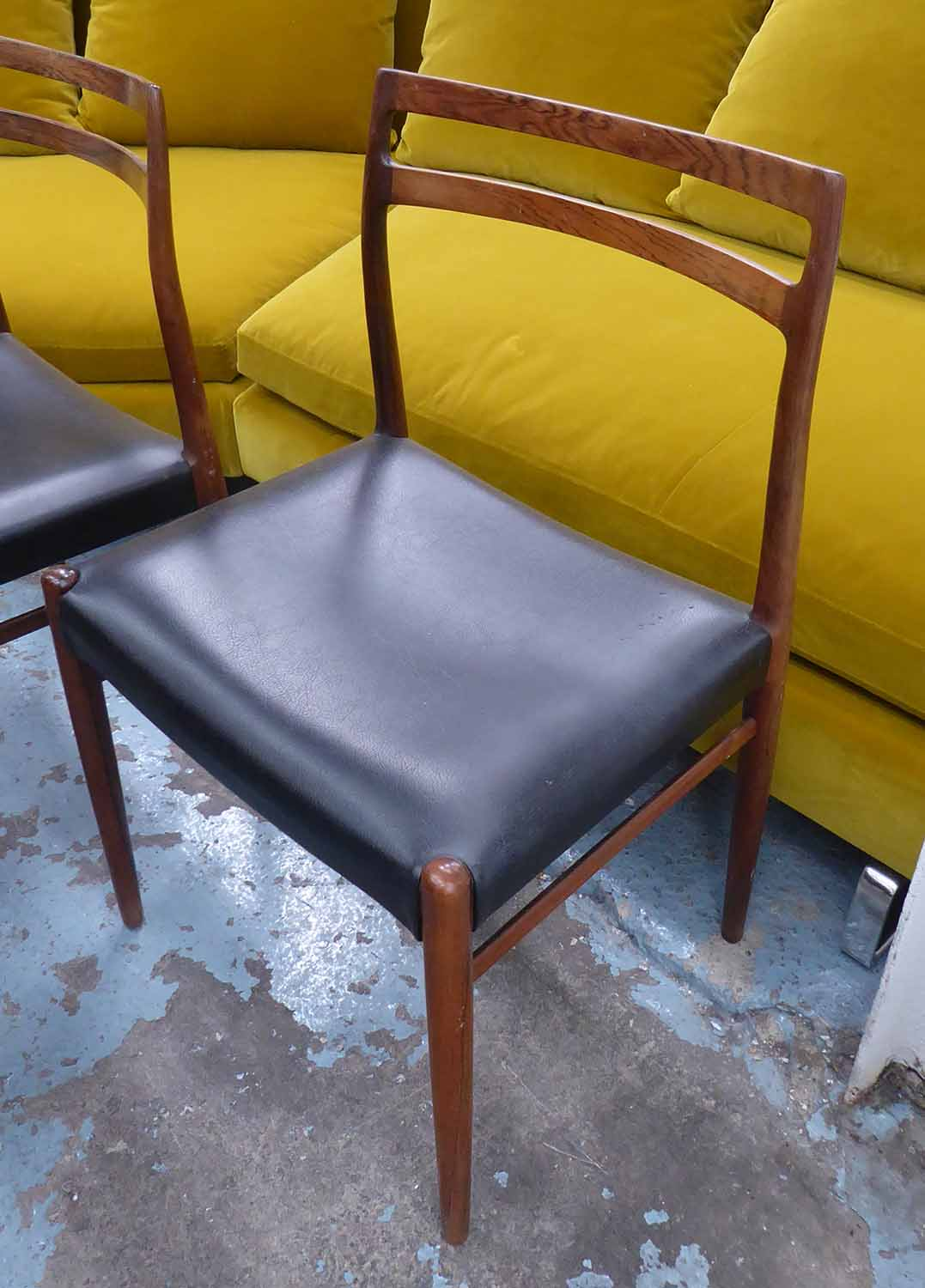 Lot 18 - GUSTAV BAHUS MODEL 147 DINING CHAIRS, a set of six, by Alf Aarseth, 1960's rosewood, 80cm H.