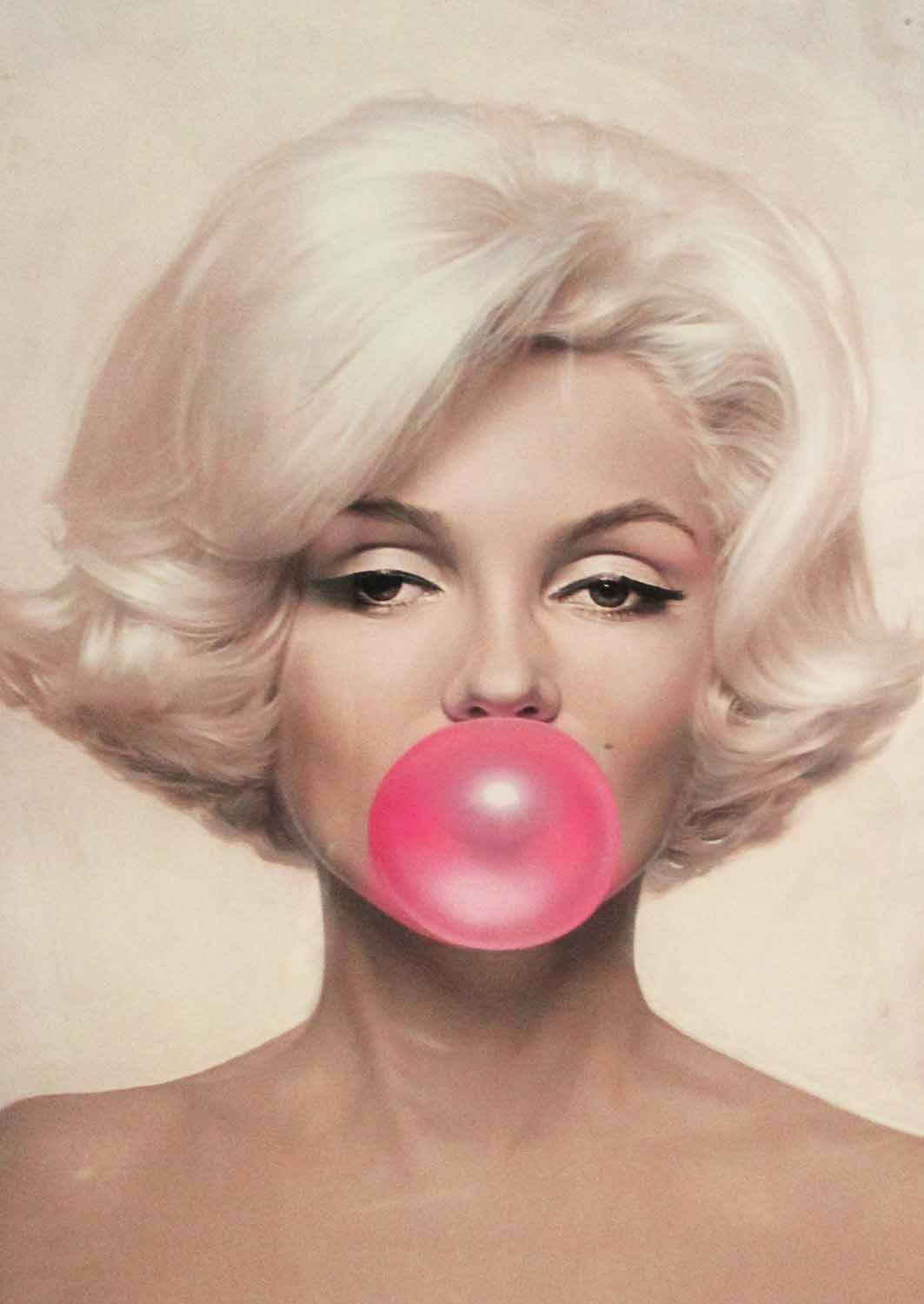 Lot 57A - LACQUERED PANEL, of Marilyn Monroe, 63cm x 100cm.