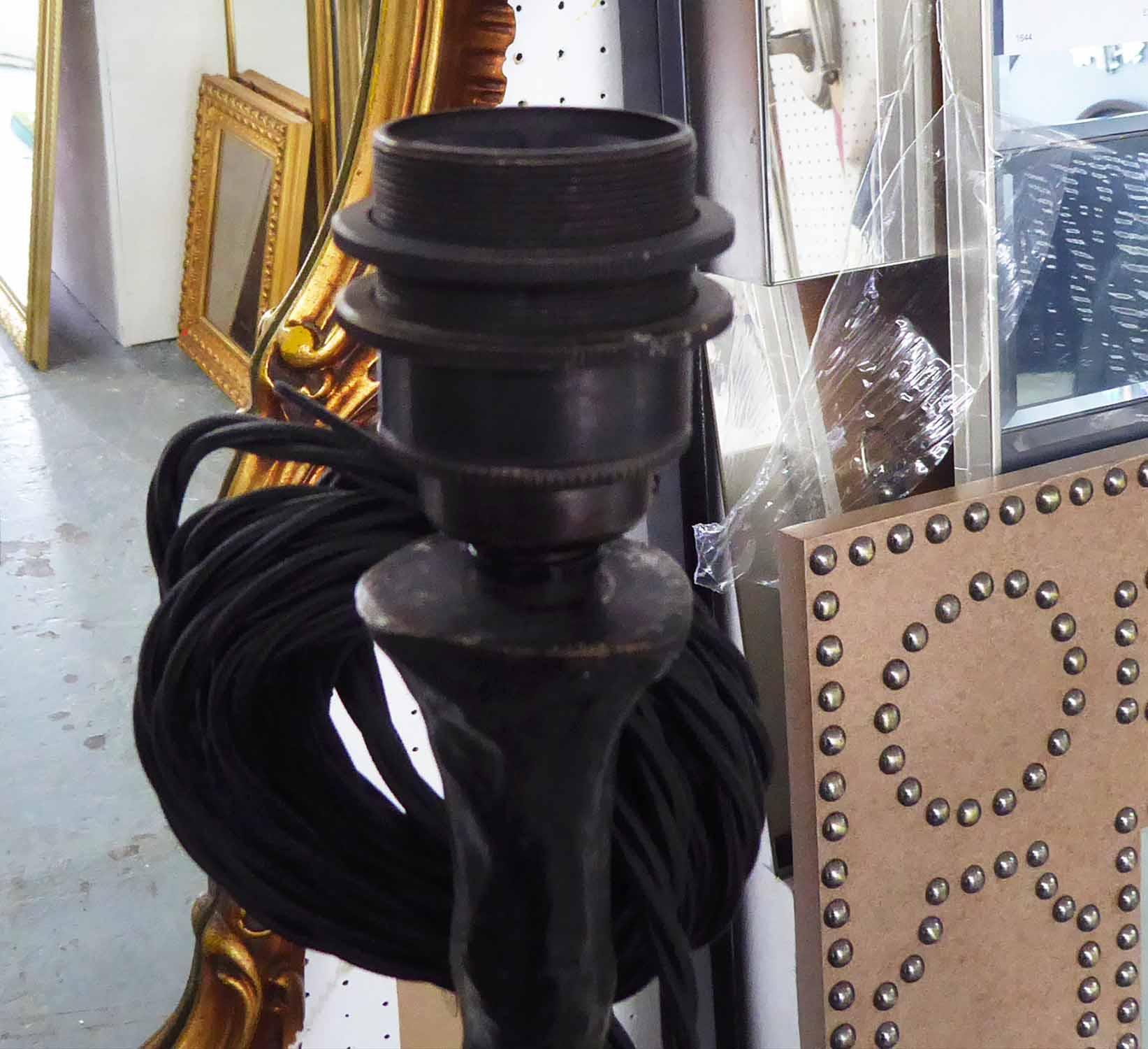 Lot 48 - WILLIAM YEOWARD CARA FLOOR LAMPS, bronze finish, 141cm H.
