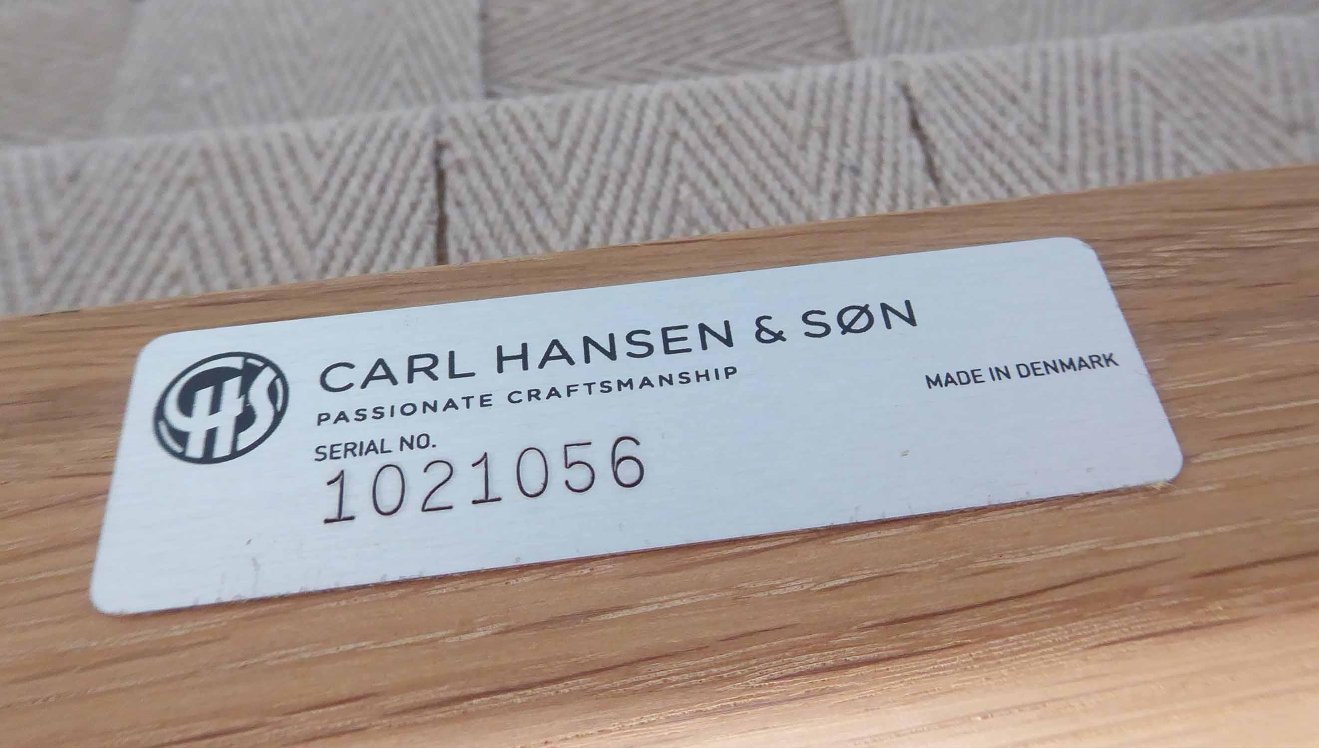 Lot 4 - CARL HANSEN & SON COLONIAL SOFA, by Ole Wanscher, 124cm W.