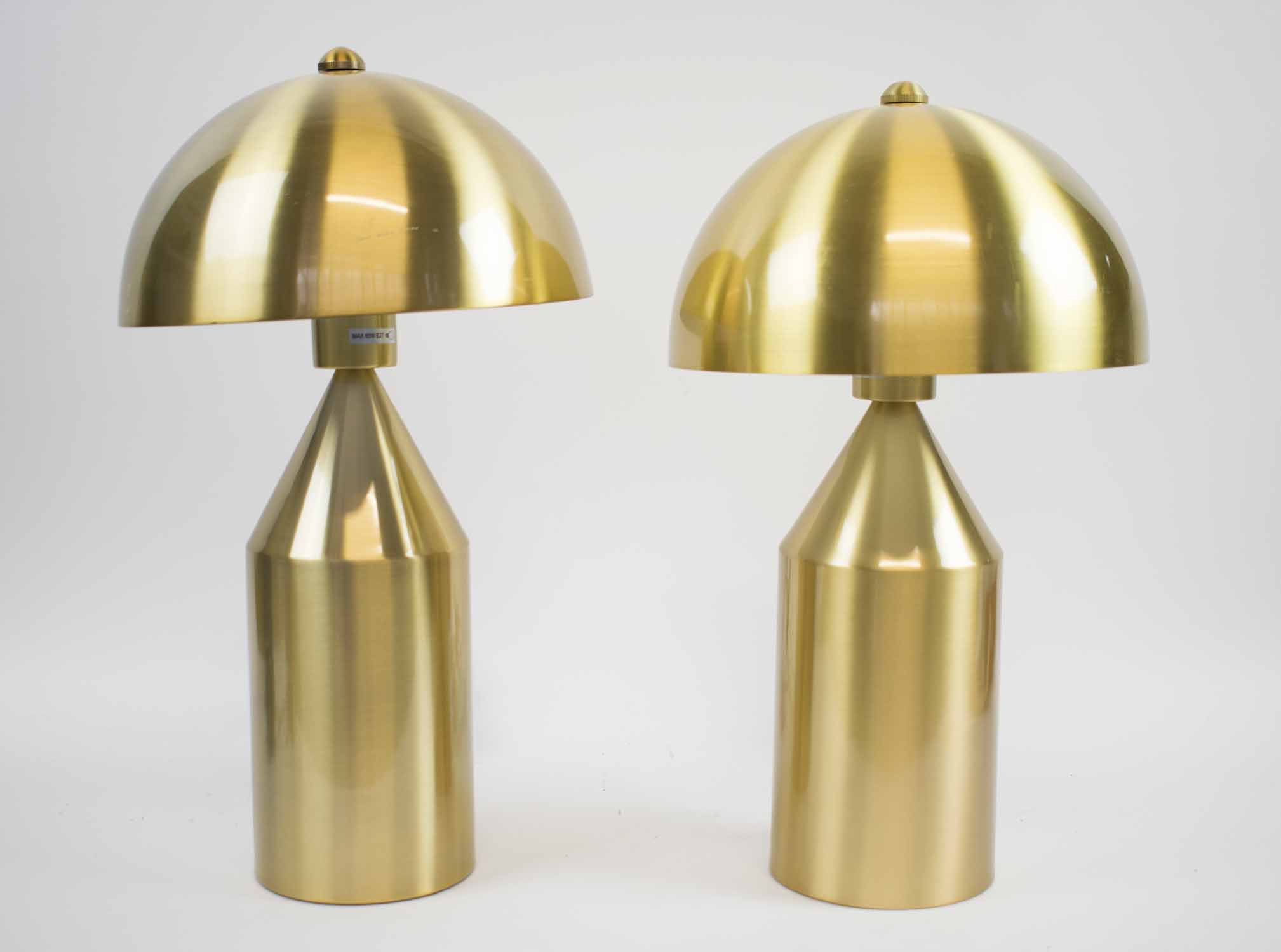 Lot 1 - AFTER VICO MAGISTRETTI ATOLLO STYLE TABLE LAMPS, a pair, 47cm H.
