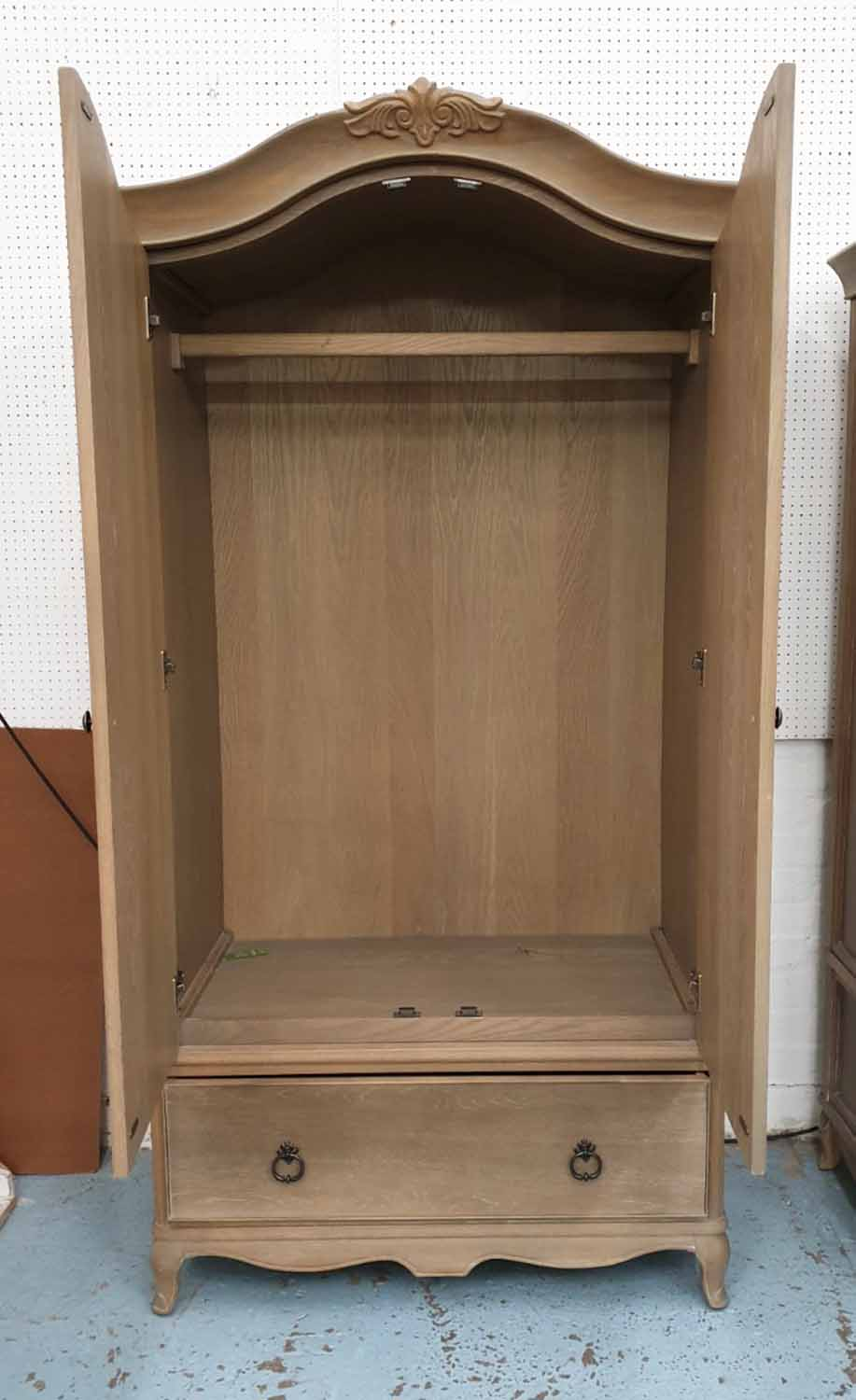 Lot 29 - ARMOIRE, French style wooden with drawer to base, 107cm W x 67cm D x 200cm H.