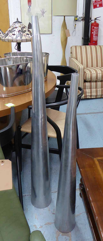 Lot 4 - FLOOR VASES, a graduated pair, 134cm H tallest.
