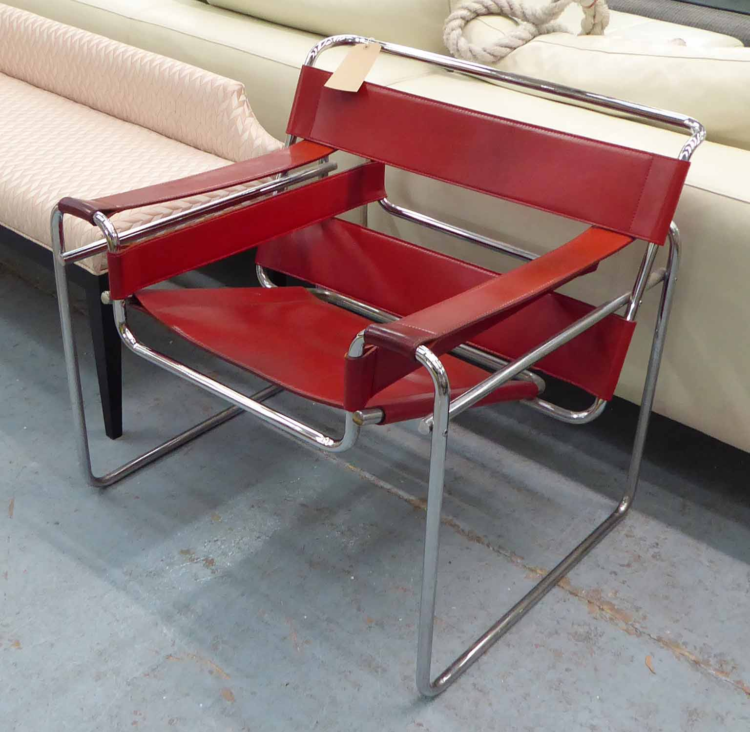 Lot 15 - FASEM WASSILY CHAIR, by Marcel Breuer, 75cm H.