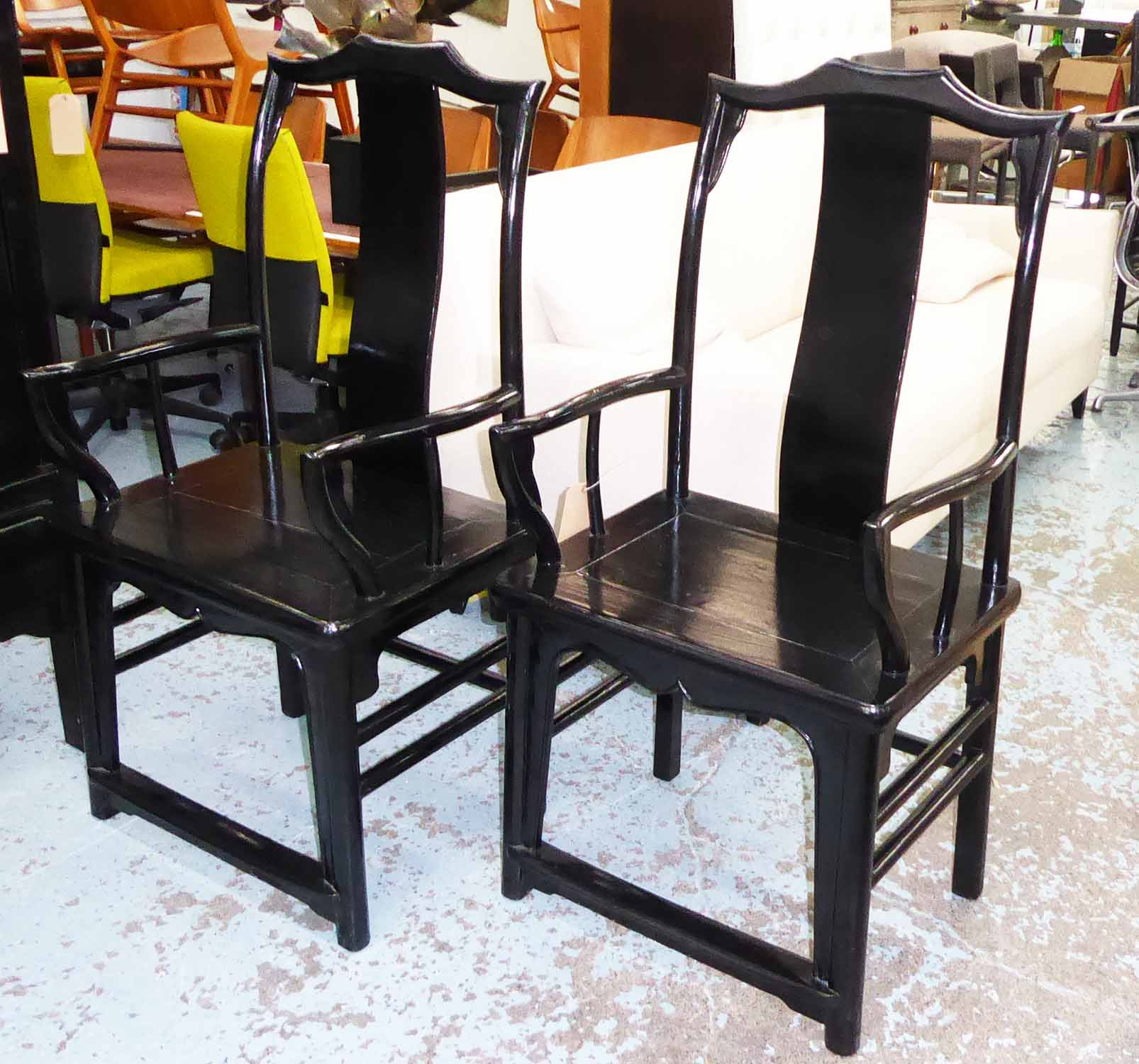 Lot 38 - CHINESE CHAIRS, a pair, Ming dynasty style, 120cm H x 54cm x 44cm.