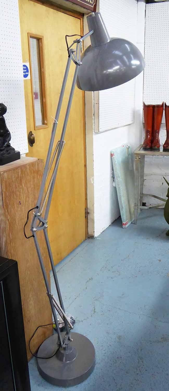 Lot 14 - VINTAGE INSPIRED FLOOR LAMP, anglepoise design, 180cm H.