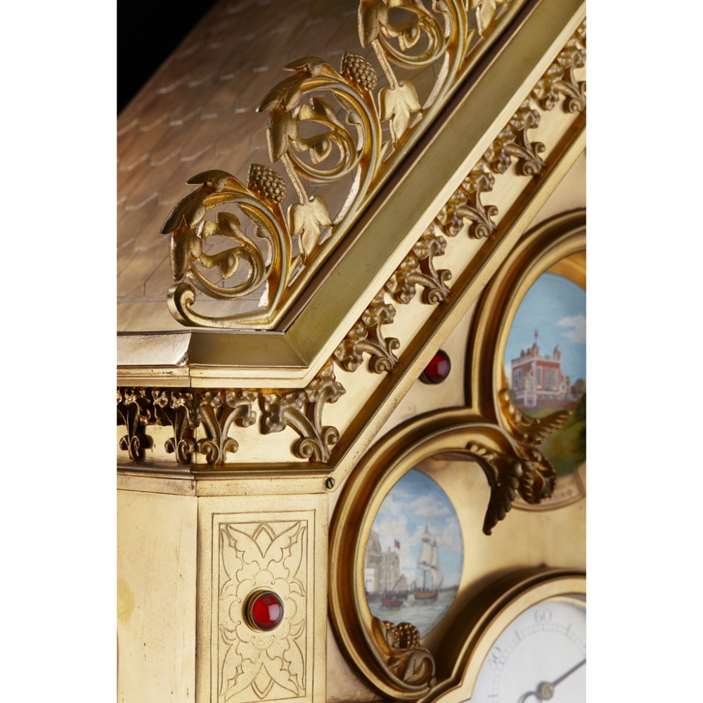 LARGE AND IMPRESSIVE GOTHIC REVIVAL CHIMING CLOCK BY BENJAMIN LEWIS VULLIAMY, LONDONCIRCA 1840 the - Image 9 of 13