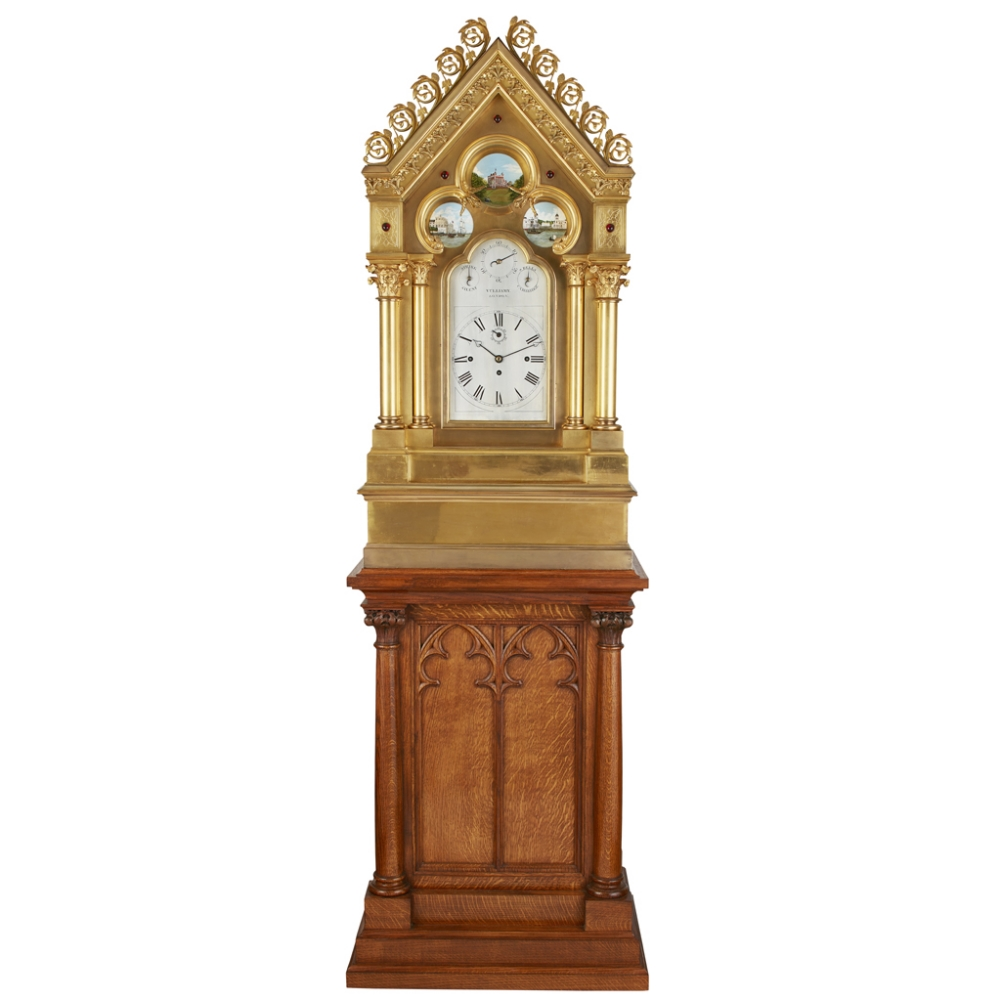 LARGE AND IMPRESSIVE GOTHIC REVIVAL CHIMING CLOCK BY BENJAMIN LEWIS VULLIAMY, LONDONCIRCA 1840 the