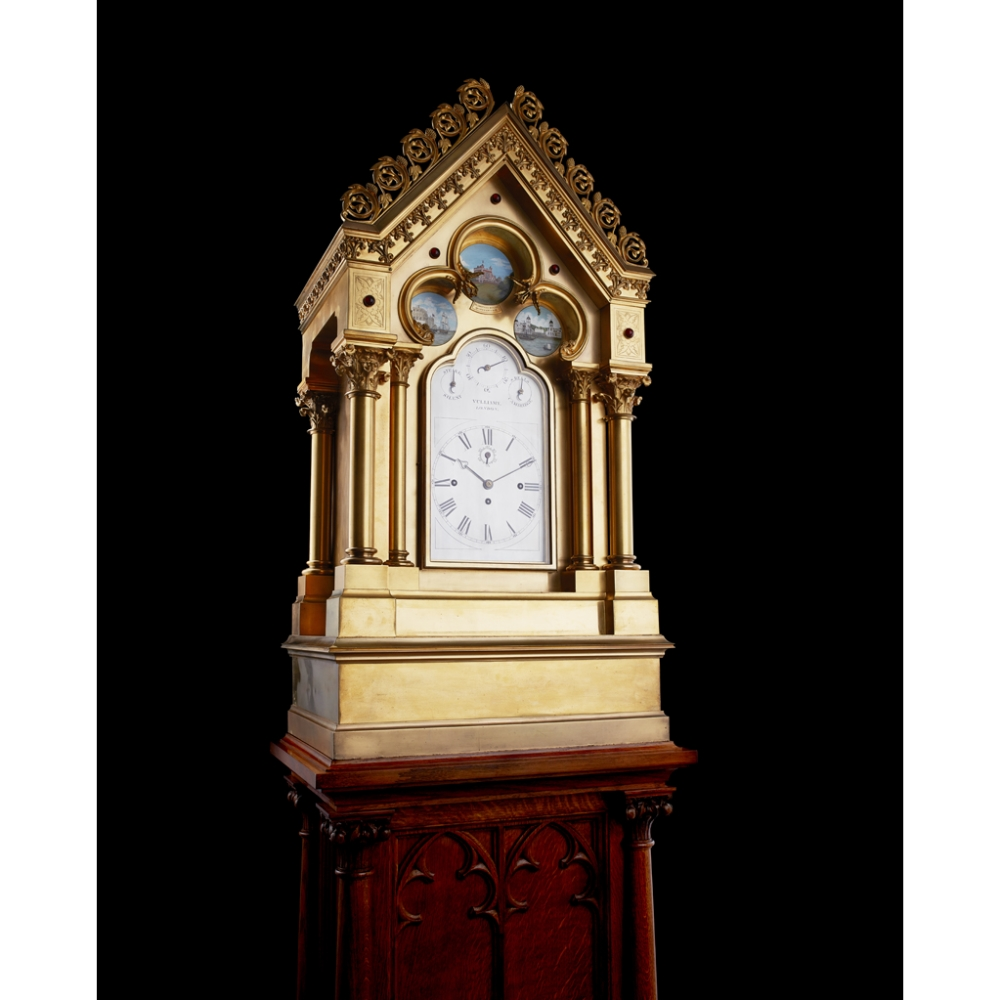 LARGE AND IMPRESSIVE GOTHIC REVIVAL CHIMING CLOCK BY BENJAMIN LEWIS VULLIAMY, LONDONCIRCA 1840 the - Image 2 of 13