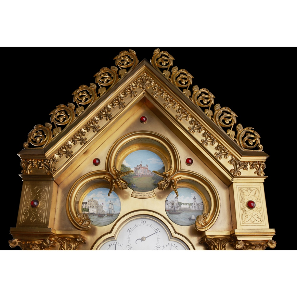 LARGE AND IMPRESSIVE GOTHIC REVIVAL CHIMING CLOCK BY BENJAMIN LEWIS VULLIAMY, LONDONCIRCA 1840 the - Image 10 of 13