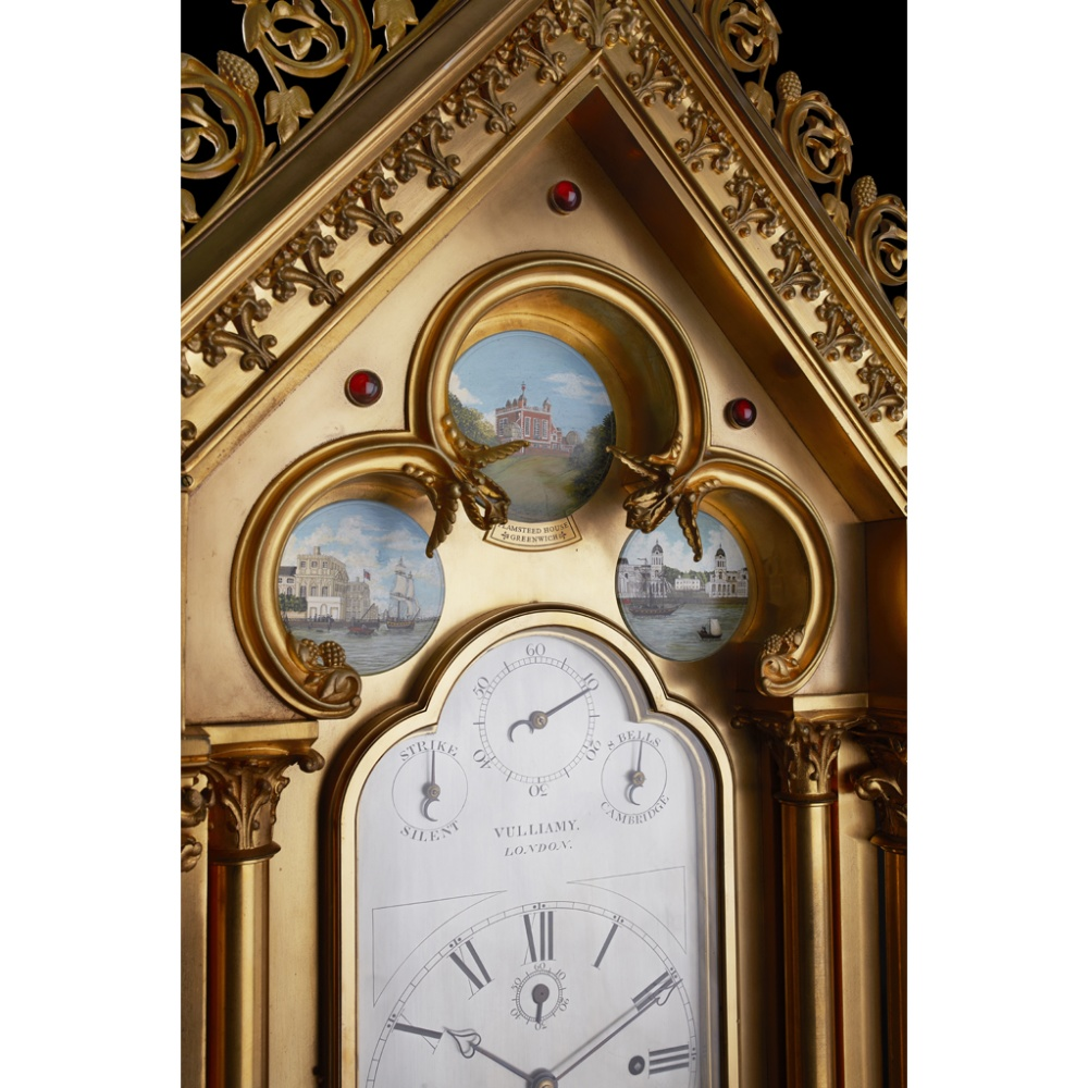 LARGE AND IMPRESSIVE GOTHIC REVIVAL CHIMING CLOCK BY BENJAMIN LEWIS VULLIAMY, LONDONCIRCA 1840 the - Image 3 of 13