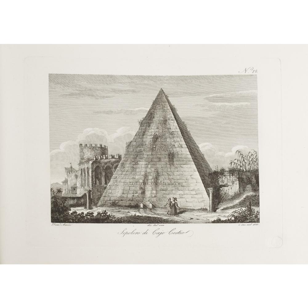 Lot 1 - [AMICI, DOMENICO][RACCOLTA DELLE PRINCIPALI VEDUTE DI ROMA] [Rome, c.1840] Oblong folio containing