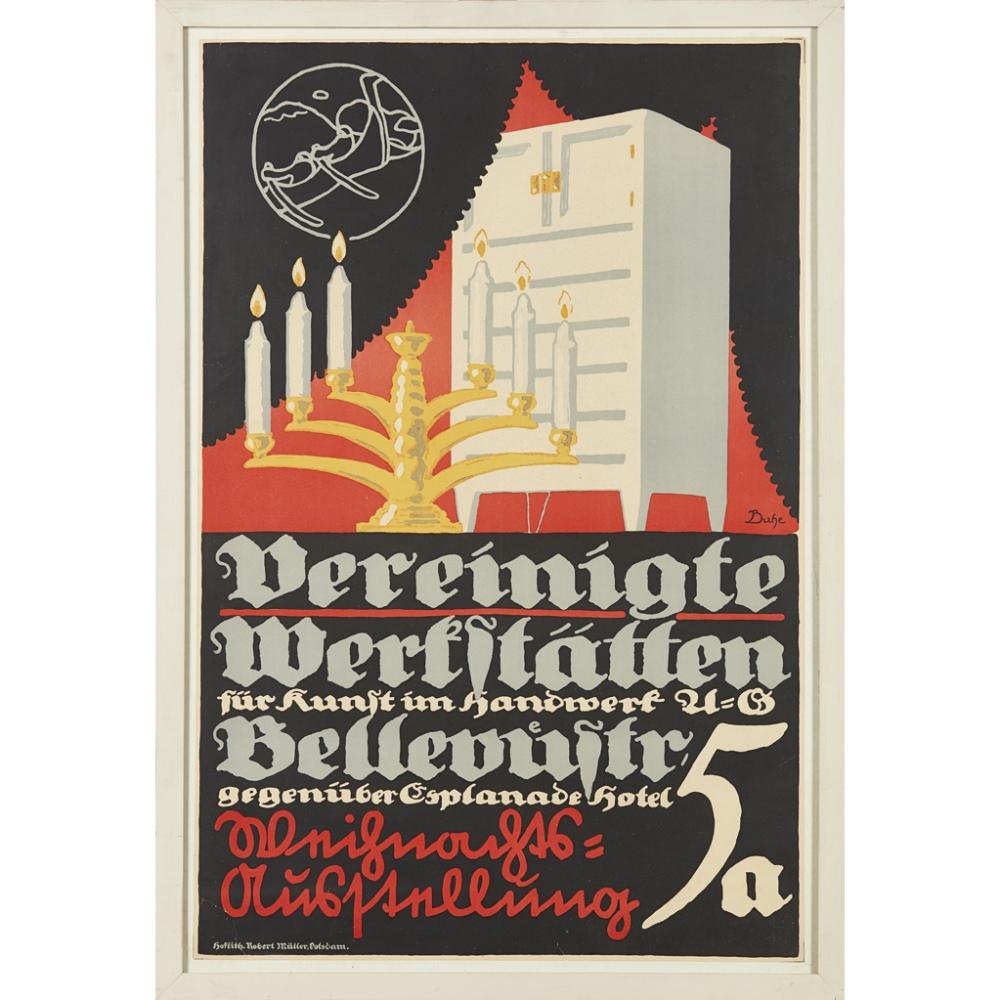 Lot 51 - WALTER BUHE (1882–1958)POSTER: VEREINIGTE WERKSTÄTTEN FÜR KUNST IM HANDWERK, CIRCA 1905 publisher