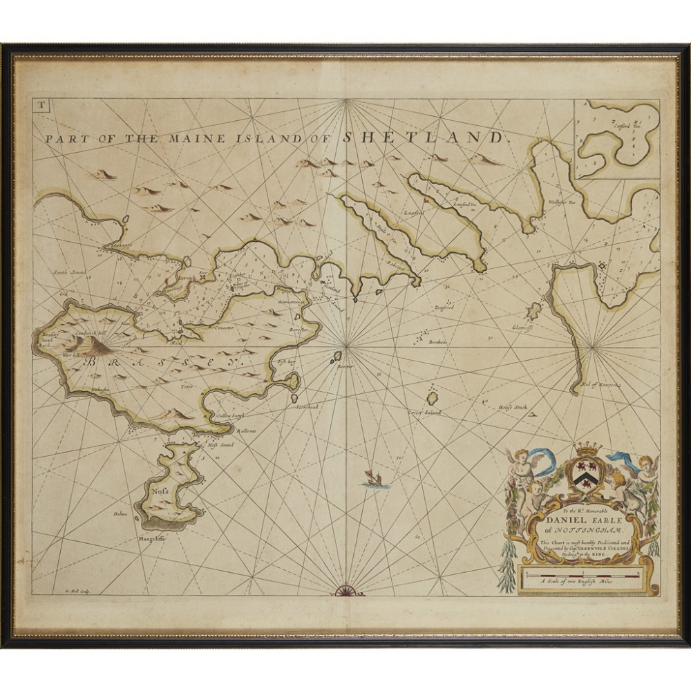 Lot 34 - COLLINS, GREENVILLEPART OF THE MAINE ISLAND OF SHETLAND [London: 1693 or later], 555 x 615mm, hand-