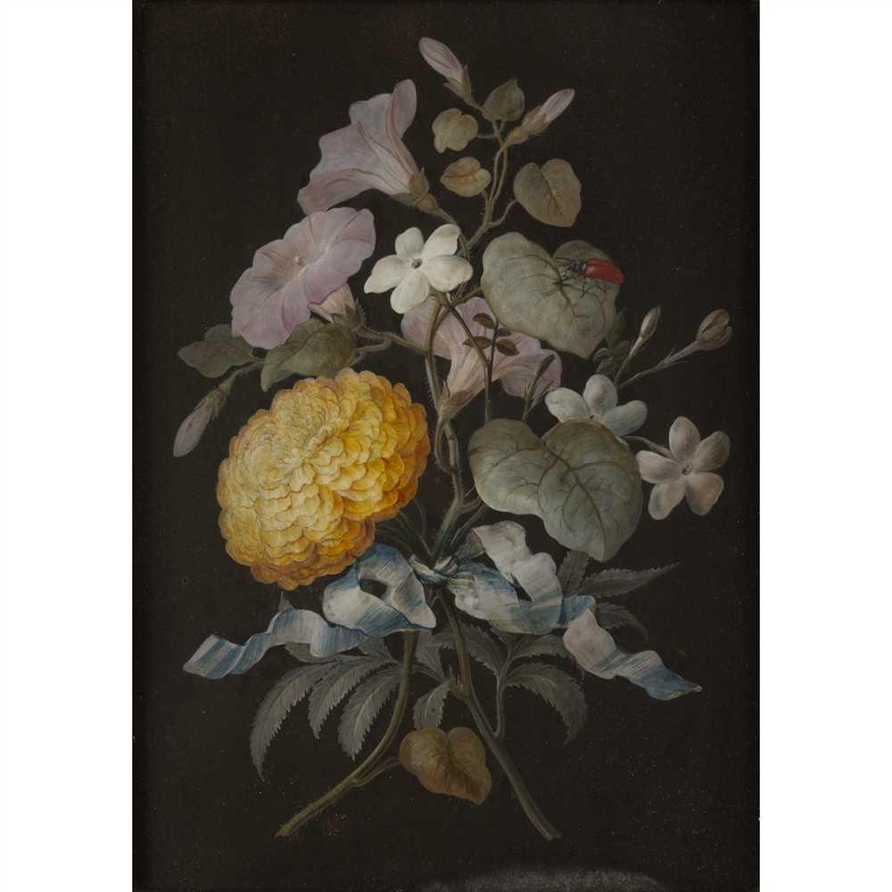 BARBARA REGINA DIETZSCH (GERMAN 1706-1783) SET OF FOUR STILL LIFES WITH BUTTERFLIES Gouache on paper - Image 3 of 9